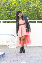 dress - jacket - purse - wedges