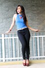 Black-forever-21-jeans-blue-forever-21-top-ruby-red-forever-21-heels