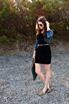 leopard Target belt - suede overall Sisley dress - vintage Fendi bag