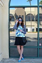 printed Peter Pilotto sweatshirt - black H&M dress - cross body H&M bag