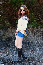 fair isle Urban Outfitters sweater - riding boots Ralph Lauren boots