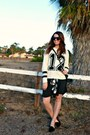 Black-cpshades-dress-black-and-white-forever-21-sweater
