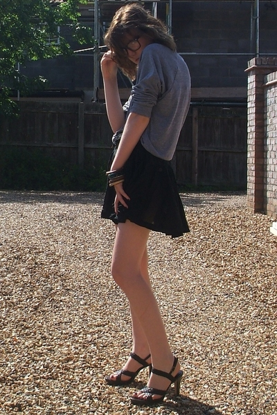 American Apparel sweater - new look skirt - next shoes - Ebay glasses