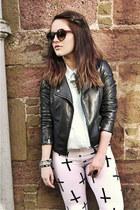 OMGFashion leggings - Topshop jacket - H&M shirt
