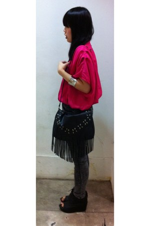 fringe H&amp;M bag - rubi bracelet