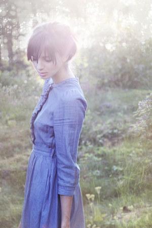 light blue Monki shoes - violet H&M dress