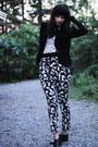 Vagabond-shoes-leifsdottir-blazer-bow-print-h-m-shirt-graphic-print-h-m-pa