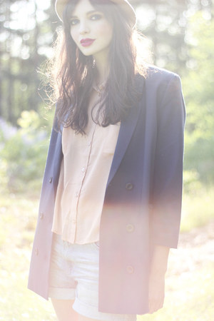 Monki blazer - neutral Monki shirt - sky blue denim Monki shorts