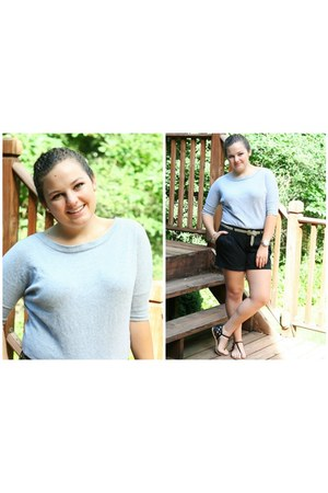 black Old Navy shorts - heather gray Forever 21 sweater