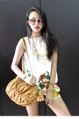 Iroo-bag-floral-iroo-shorts-glassesshop-sunglasses-asymmetrical-iroo-top