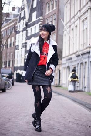 rika sweatshirt - vagabond boots - OASAP coat - asos hat