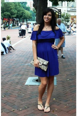 Anthropologie dress - Brighton purse - MaruMaru necklace - DSW shoes