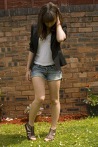 Oasis blazer - Urban Outfitters top - Office shoes - Abercrombie shorts