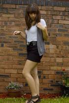 H&M vest - H&M skirt - Office shoes - belt