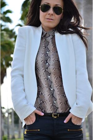 Zara blazer - Zara shirt - Zara pants