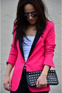 Romwe-blazer-zara-shoes-mango-purse-zara-pants