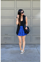 Forever 21 skirt - H&M vest - leopard print H&M sneakers