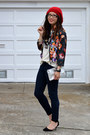 Paige-jeans-forever-21-hat-h-m-jacket-metallic-random-bag