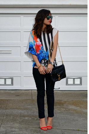 Zara t-shirt - Forever 21 jeans - Rebecca Minkoff bag