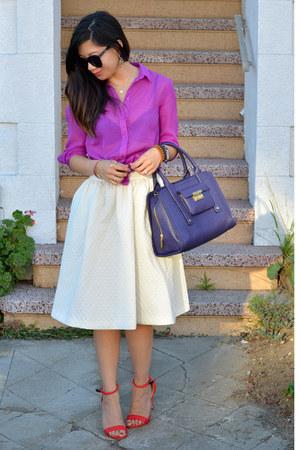 H&M shirt - 31 Phillip Lim x Target bag - Karen Walker sunglasses
