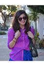 Purple-h-m-shirt-foley-corinna-bag-forever-21-skirt