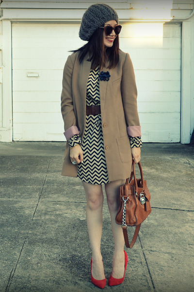 everly dress - H&M jacket - Gap heels
