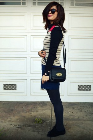 H&amp;M top - Cynthia Rowley for Target bag - Boutique 9 loafers - f21 skirt