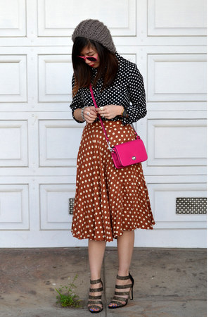 polka dot Popbasic shirt - coach bag - Sole Society heels