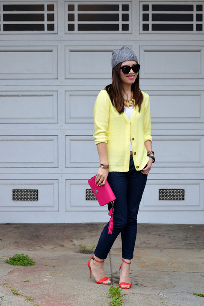 Stephanie Hoffmann Designs necklace - Forever 21 jeans - H&M hat