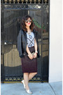 Zara-shoes-faux-leather-unknown-brand-jacket-h-m-skirt-zoe-karssen-t-shirt