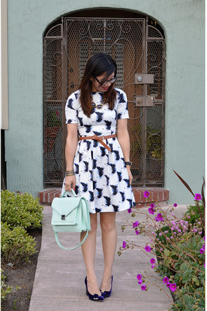 loeffler randall bag - H&M dress - Vince Camuto heels