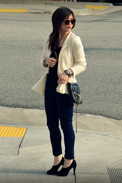 Zara jacket - Paige jeans - Rebecca Minkoff bag - lucky t-shirt