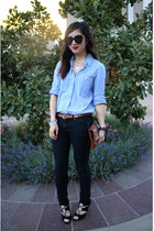 boyfriend Gap shirt - Forever 21 jeans - Clare Vivier bag