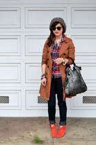 Forever 21 jeans - Joie boots - H&M coat - Forever 21 shirt