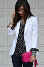 Neon-green-h-m-heels-forever-21-jeans-white-zara-blazer