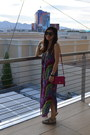 Mara-hoffman-dress-coach-purse-karen-walker-sunglasses-madden-girl-sandals