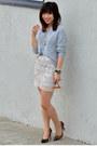 Knit-h-m-sweater-beaded-h-m-skirt-leopard-print-loft-heels