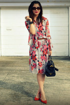 H&M dress - sdgf bag - Tabio heels