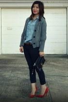 Gap heels - H&M Kids shirt - Rebecca Minkoff bag - JCrew cardigan - H&M pants