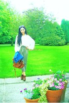 denim vintage from Ebay jacket - alexa Mulberry bag - oversized H&M sunglasses -