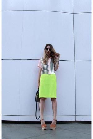 silk JF & Son skirt - leonard ii Illesteva sunglasses