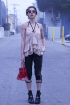 track Isabel Marant pants - balenciaga boots - chaperon rouge Delvaux bag