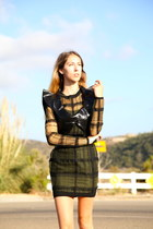 Chloe vest - plaid Alexander Wang dress