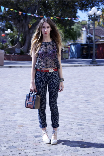 daisy Patrik Ervell jeans - Celine bag - calvin klein flats - daisy Topshop top