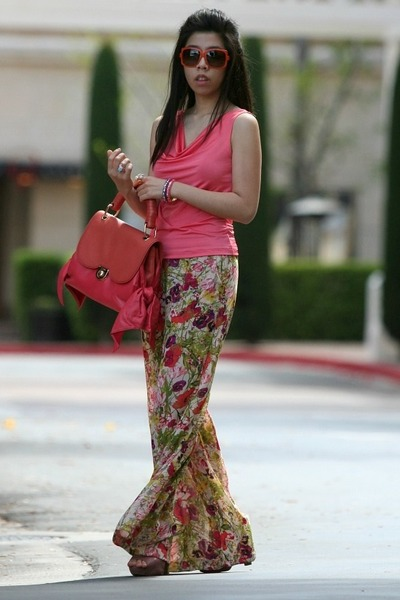 coral Z Spoke Zac Posen bag - carrot orange dior sunglasses - coral Lulus pants