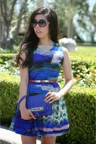blue Walg London dress - deep purple PROENZA SCHOULER bag