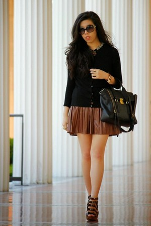 black 31 Phillip Lim bag - black Chanel sunglasses - dark brown Macys skirt