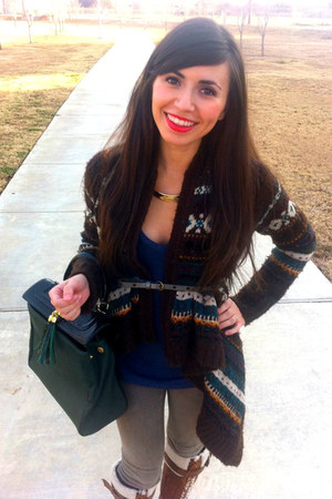 Anthropologie sweater - Arturo Chiang boots - Dillards leggings - Aldo bag