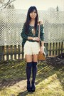 Vintage-bag-lace-oasap-shorts-thigh-highs-nordstrom-socks