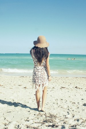 lace free people dress - American Rag hat